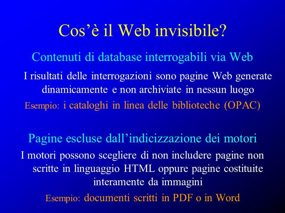 Cos'è il Web invisibile