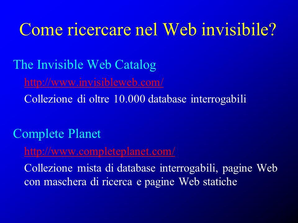 Come ricercare nel Web invisibile