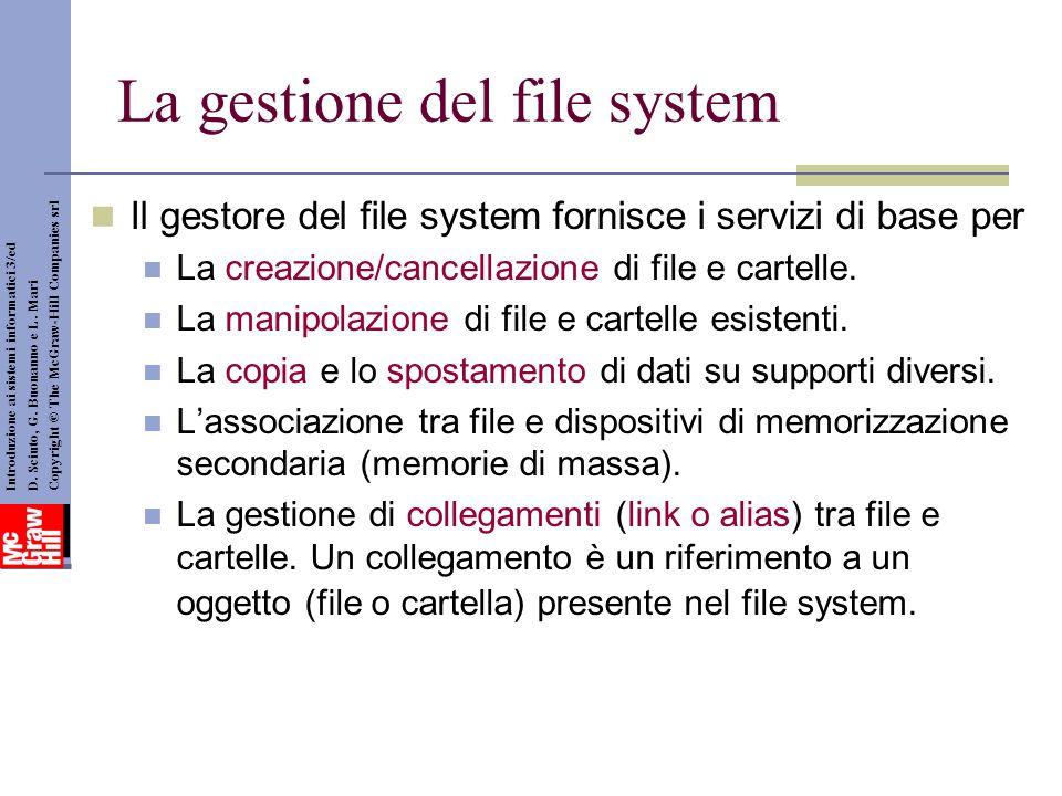 La gestione del file system
