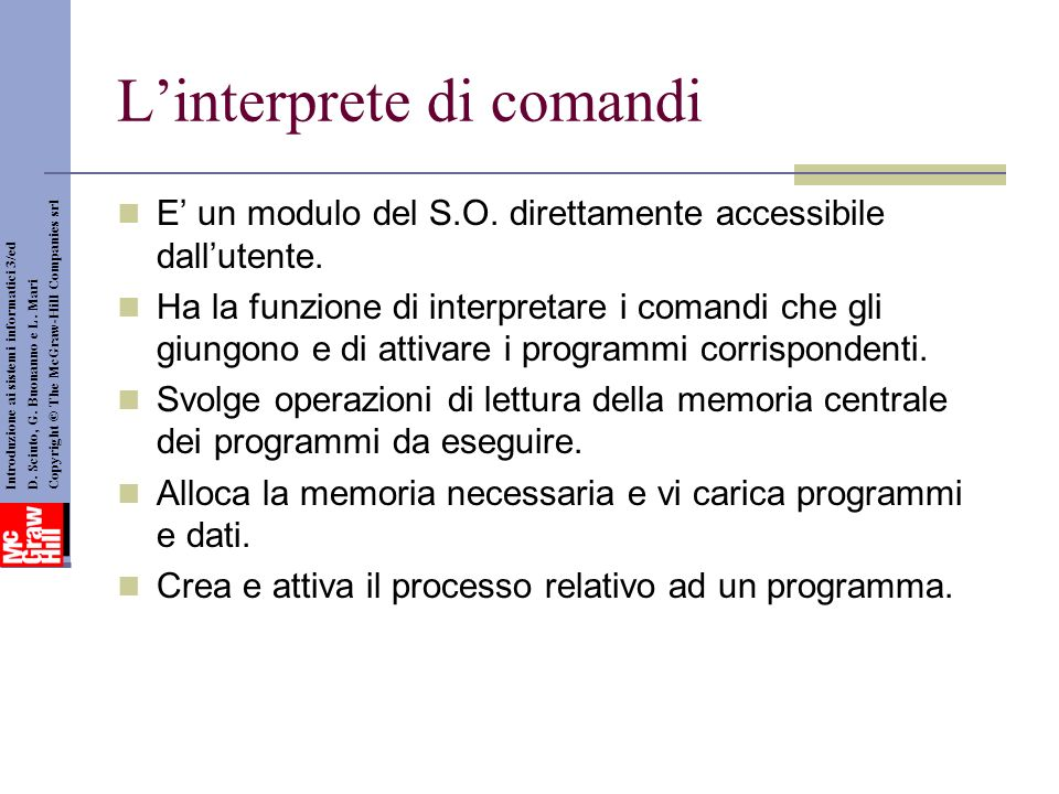L'interprete di comandi