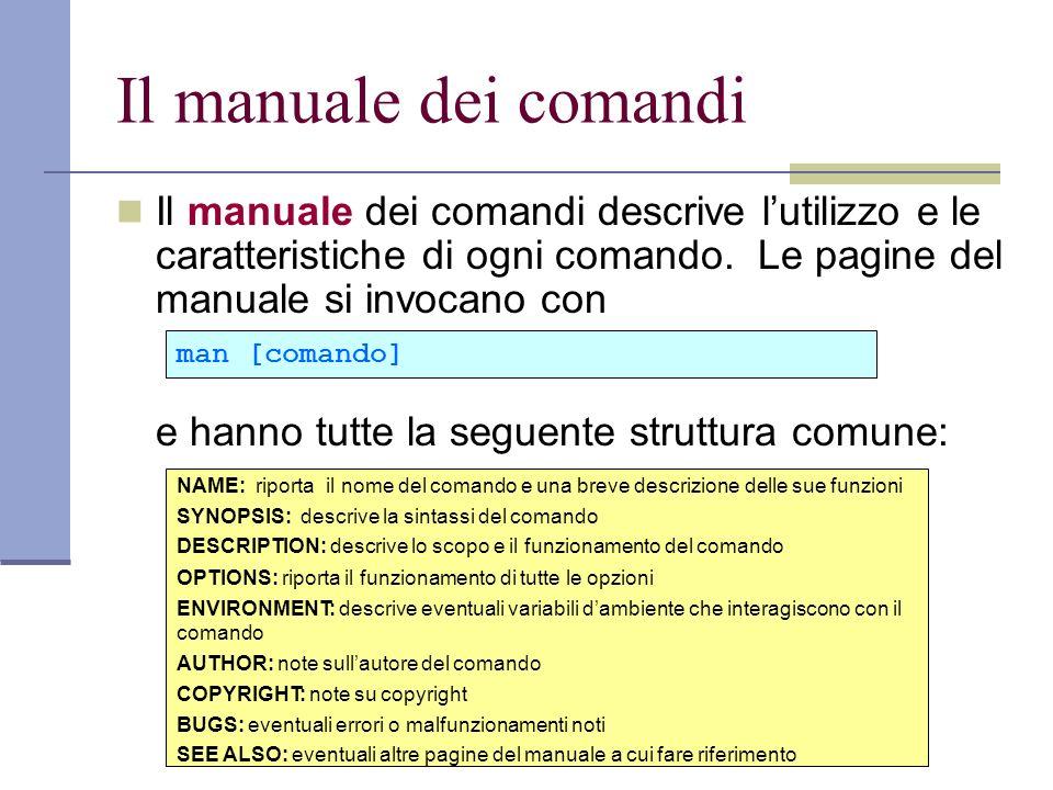 Il manuale dei comandi