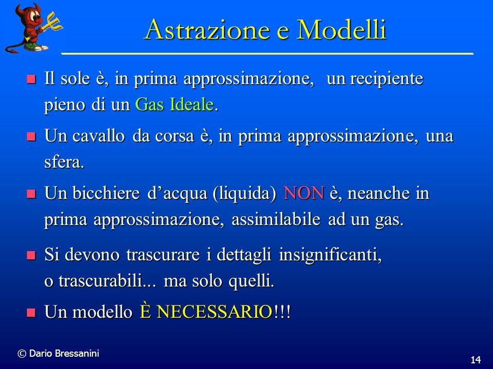 Astrazione e Modelli Il sole è, in prima approssimazione, un recipiente pieno di un Gas Ideale.