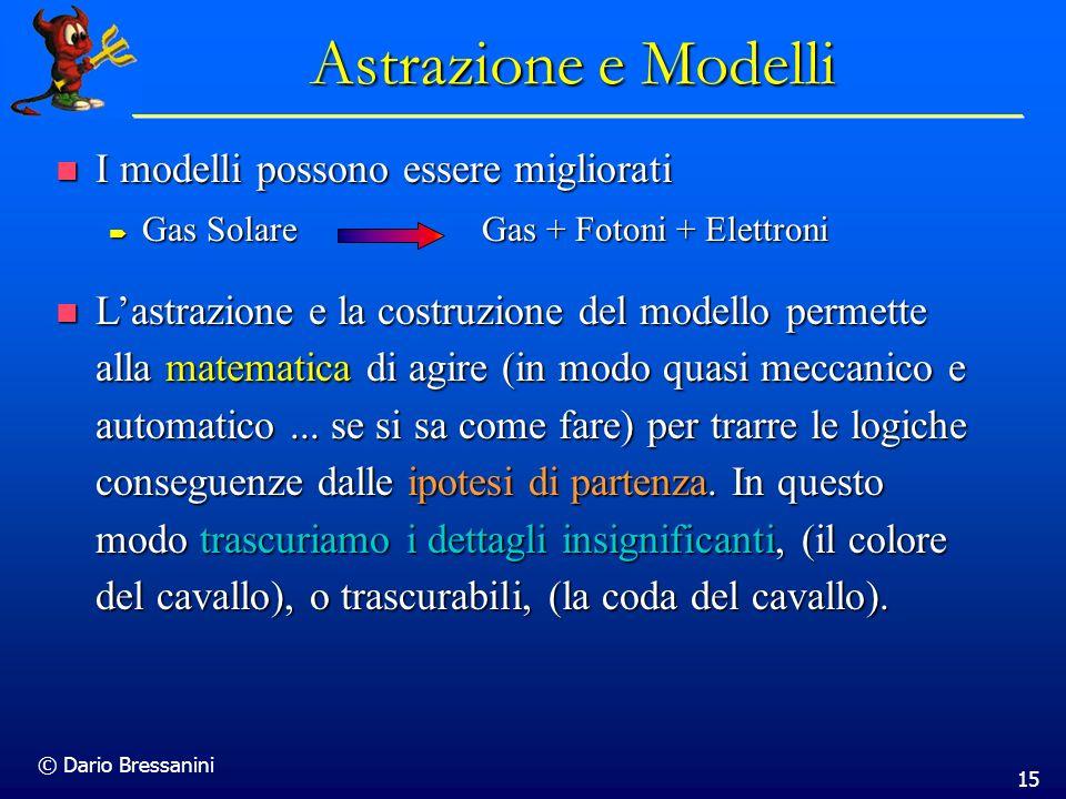 Astrazione e Modelli I modelli possono essere migliorati