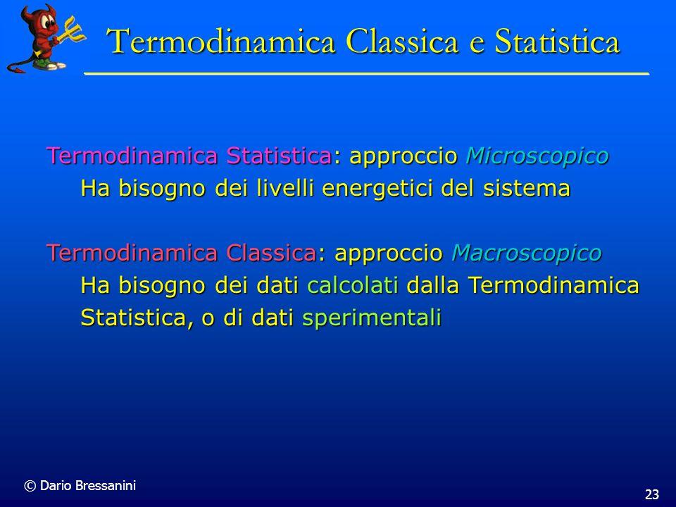 Termodinamica Classica e Statistica