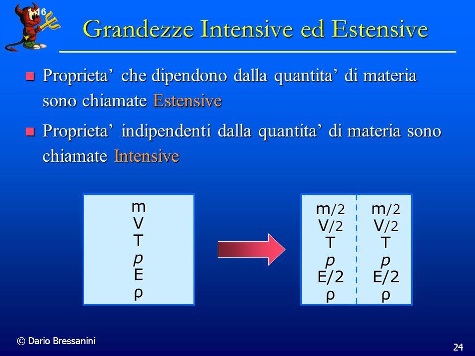 Grandezze Intensive ed Estensive