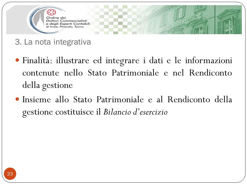 3. La nota integrativa