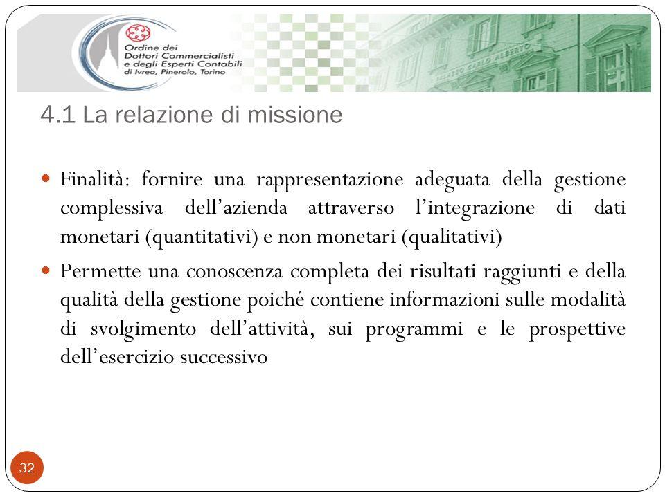 4.1 La relazione di missione