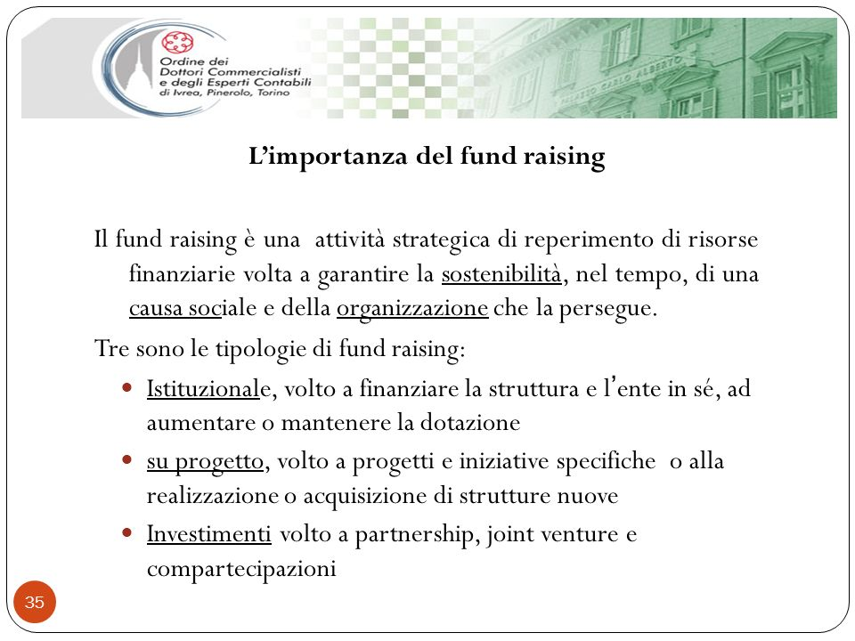 L'importanza del fund raising