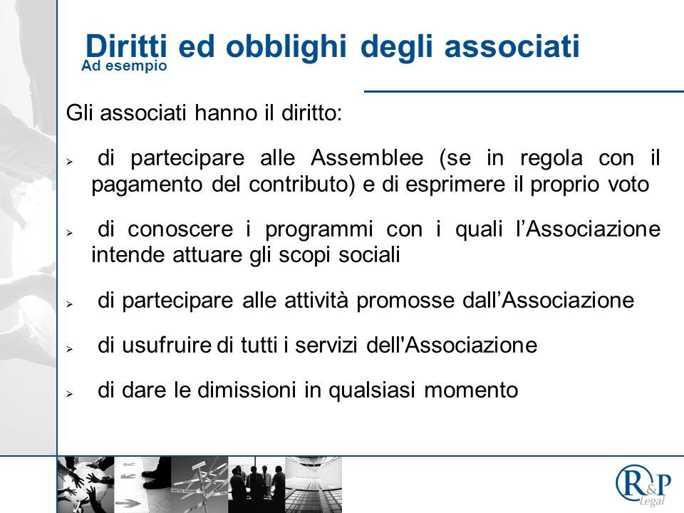 Diritti ed obblighi degli associati