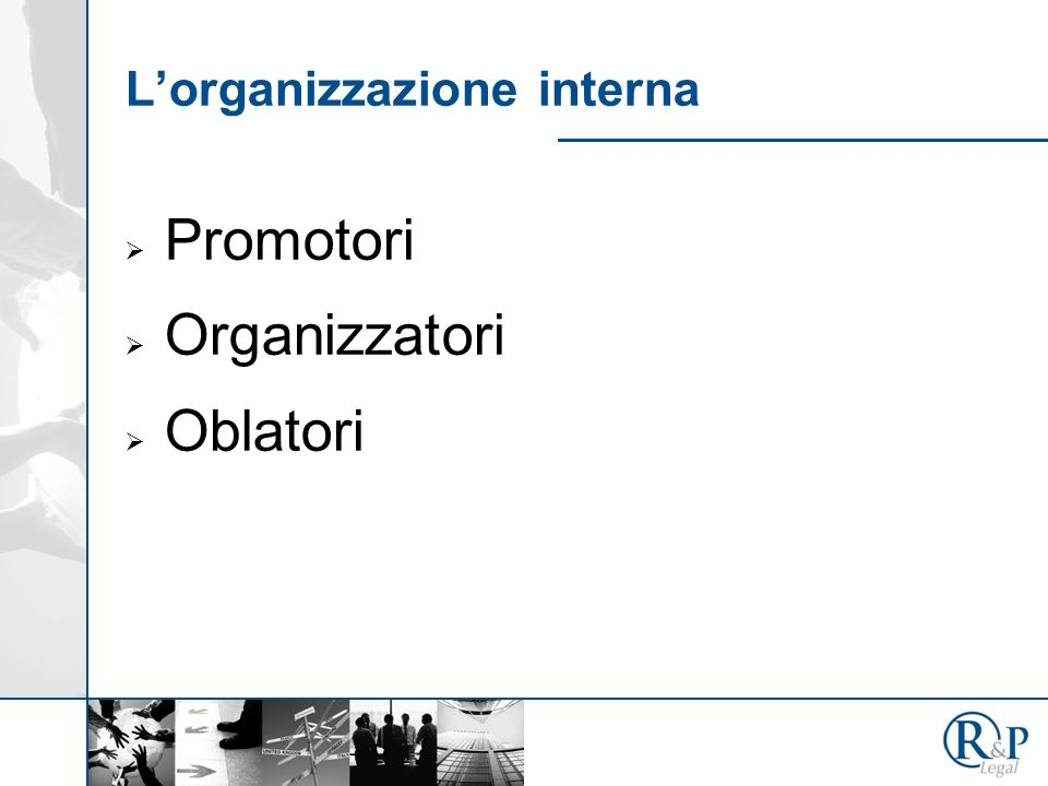 L'organizzazione interna
