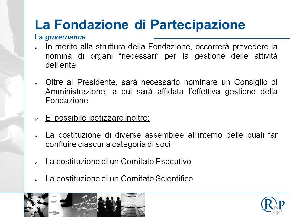 La Fondazione di Partecipazione La governance