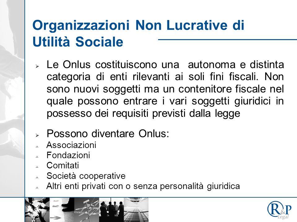 Organizzazioni Non Lucrative di Utilità Sociale