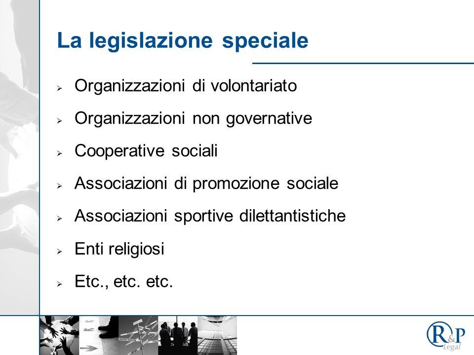 La legislazione speciale