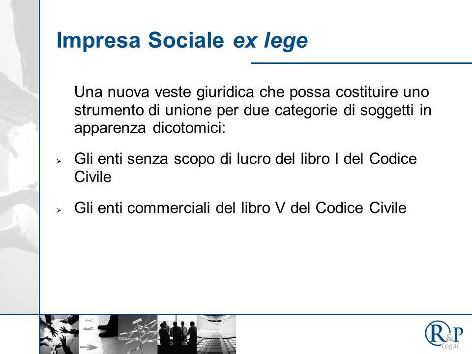 Impresa Sociale ex lege