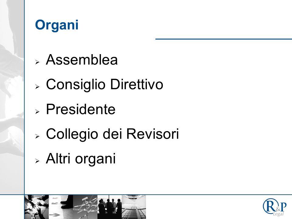 Assemblea Consiglio Direttivo Presidente Collegio dei Revisori