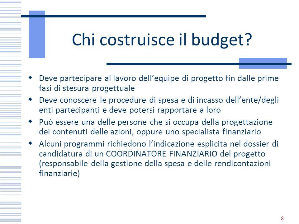 Chi costruisce il budget