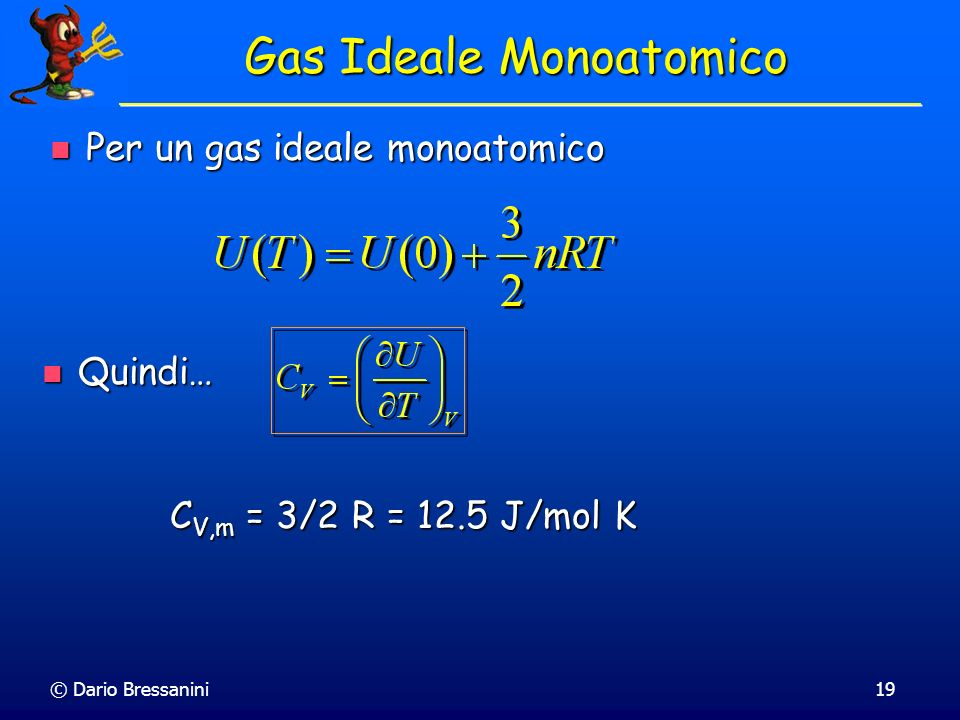 Gas Ideale Monoatomico