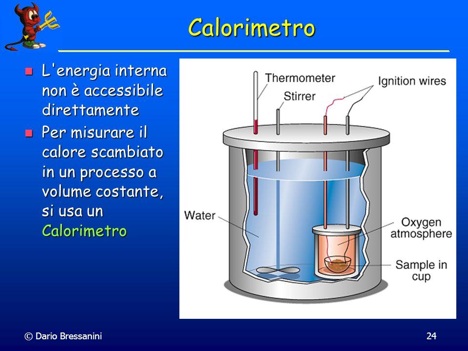 Calorimetro L energia interna non è accessibile direttamente