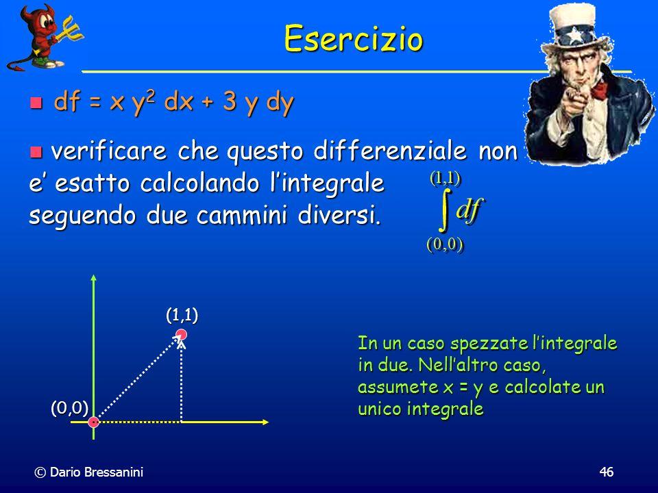Esercizio df = x y2 dx + 3 y dy