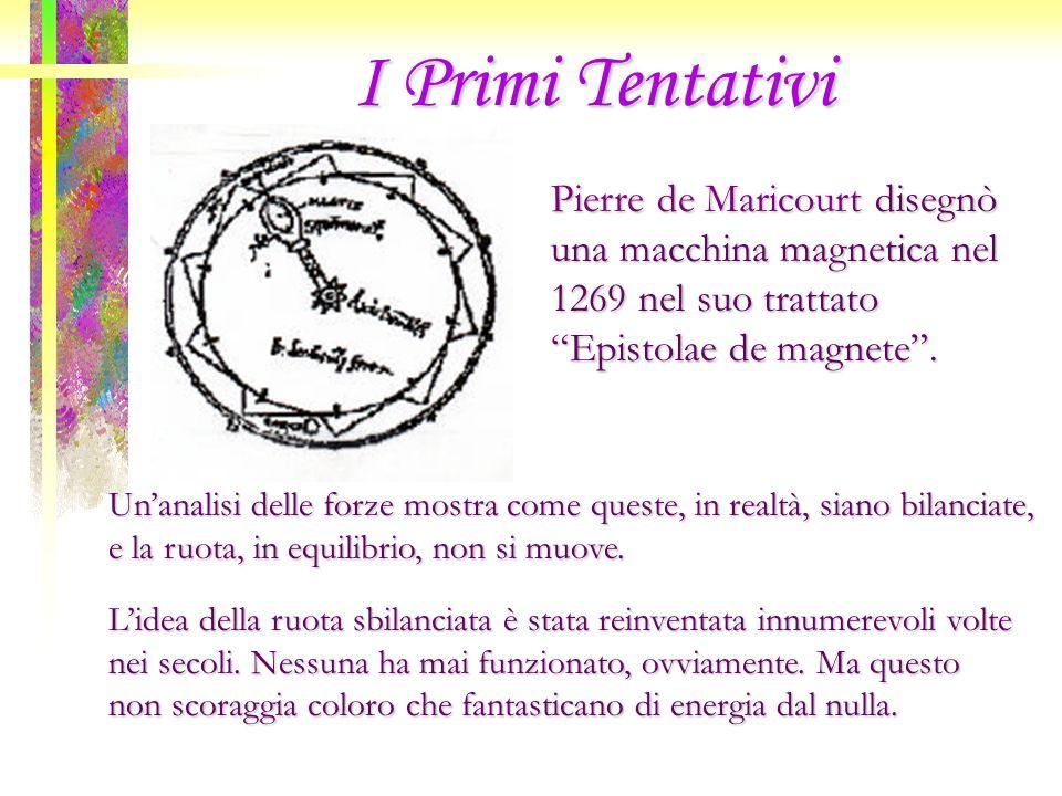 I Primi Tentativi Pierre de Maricourt disegnò una macchina magnetica nel 1269 nel suo trattato Epistolae de magnete .