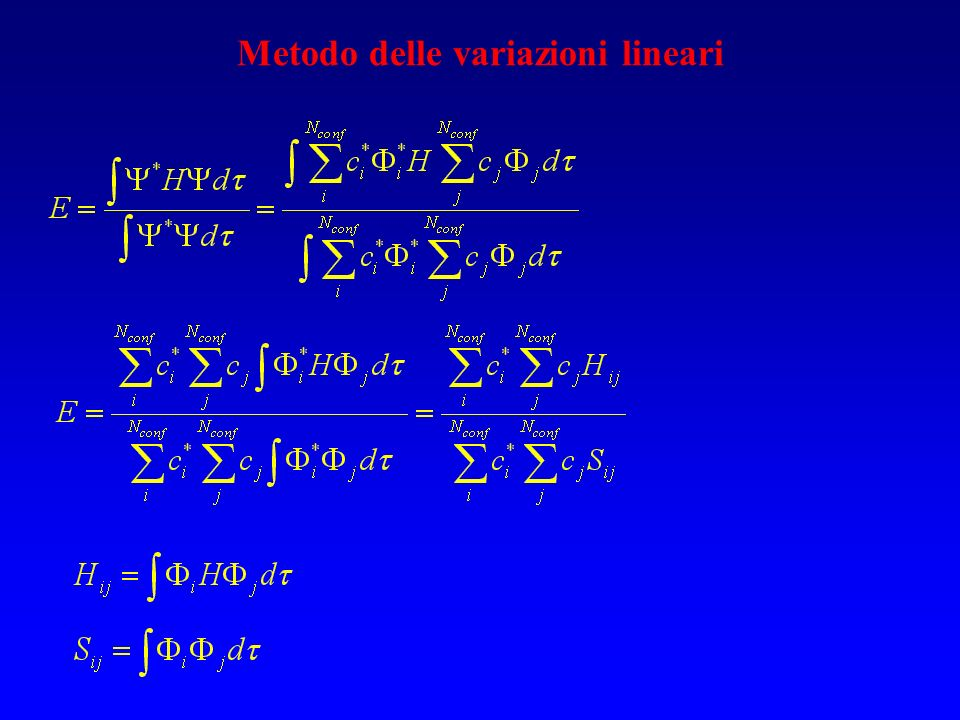Metodo delle variazioni lineari