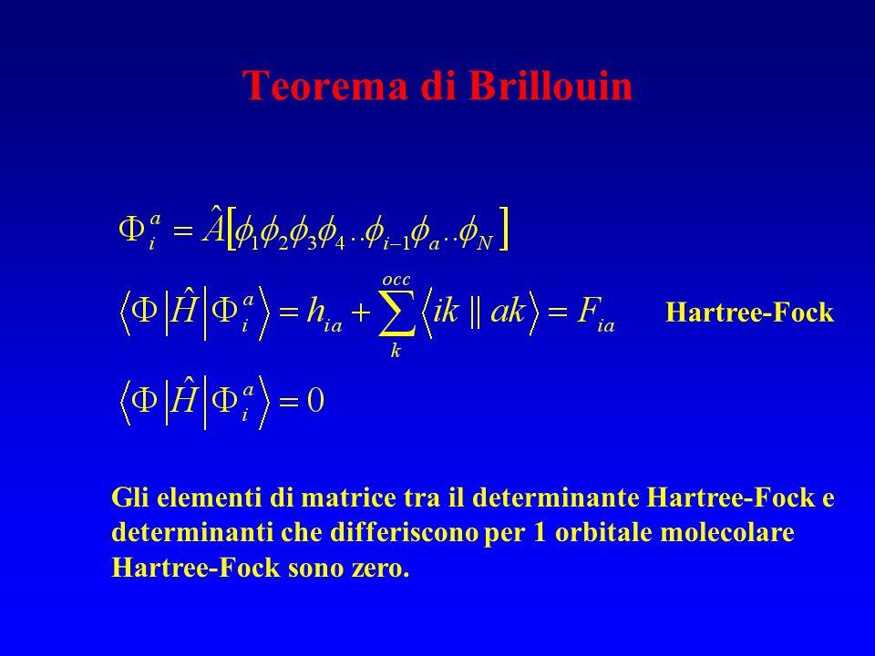 Teorema di Brillouin Hartree-Fock