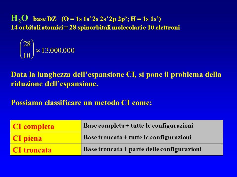 H2O base DZ (O = 1s 1s' 2s 2s' 2p 2p'; H = 1s 1s')