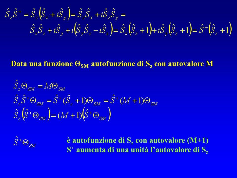 Data una funzione SM autofunzione di Sz con autovalore M