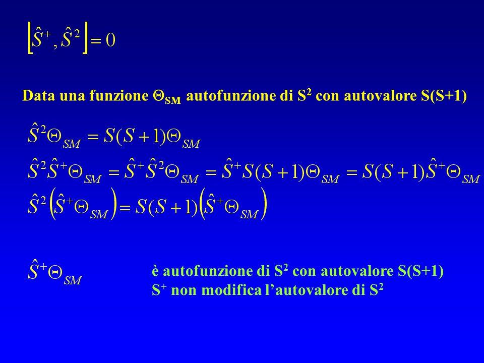 Data una funzione SM autofunzione di S2 con autovalore S(S+1)
