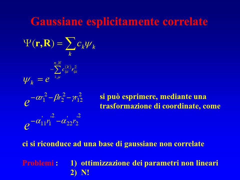 Gaussiane esplicitamente correlate