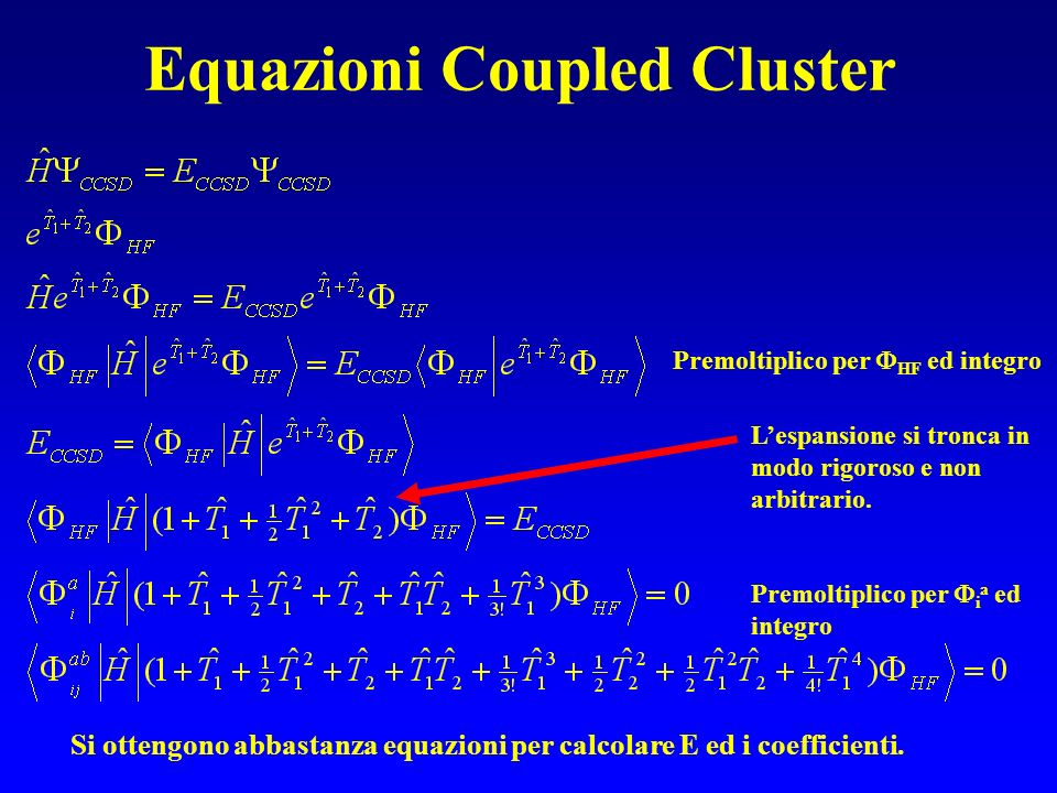 Equazioni Coupled Cluster
