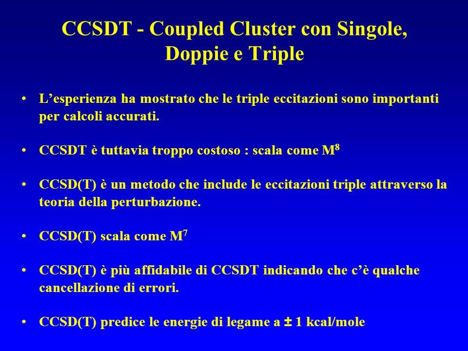 CCSDT - Coupled Cluster con Singole, Doppie e Triple