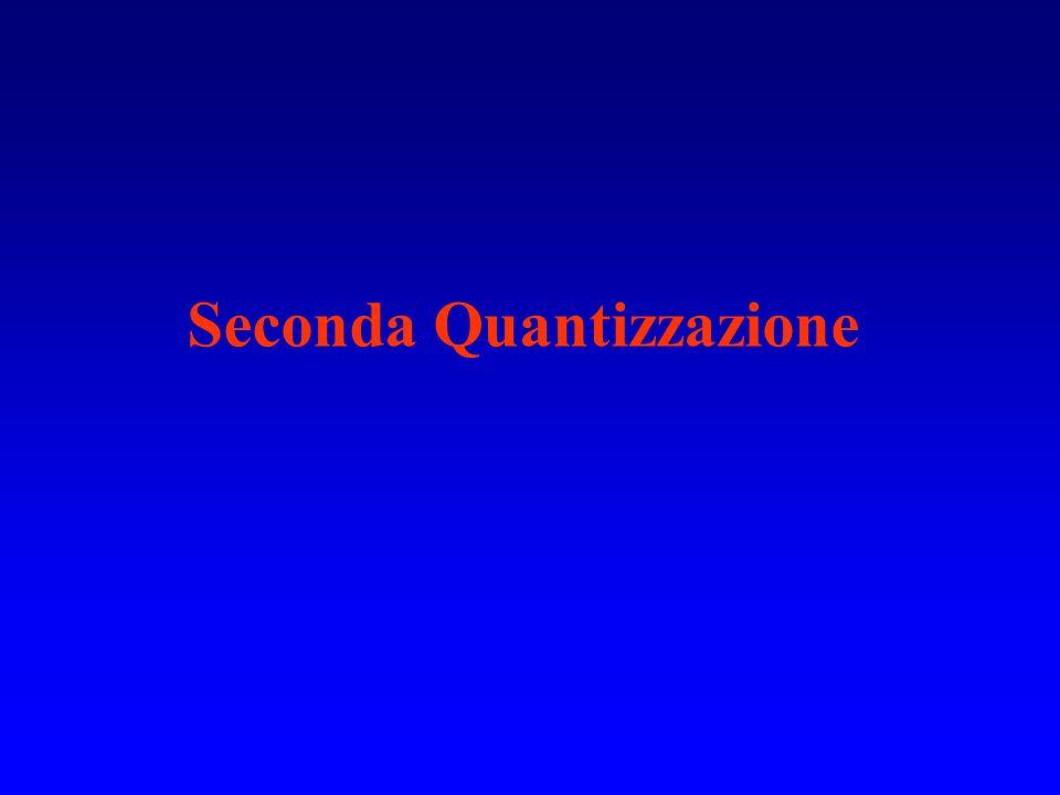 Seconda Quantizzazione