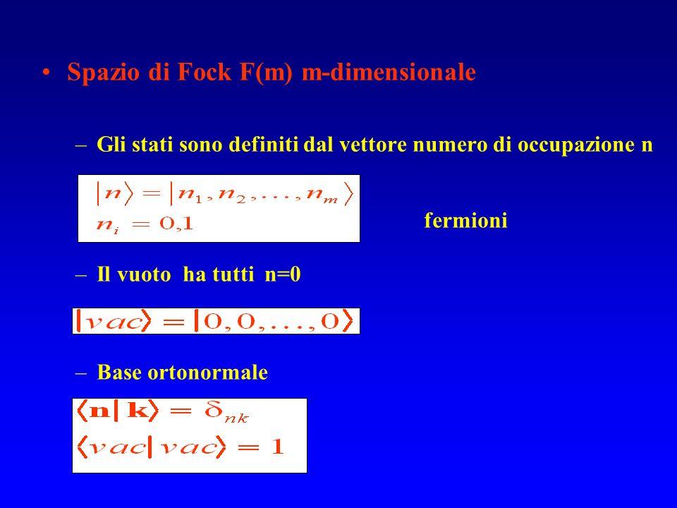 Spazio di Fock F(m) m-dimensionale