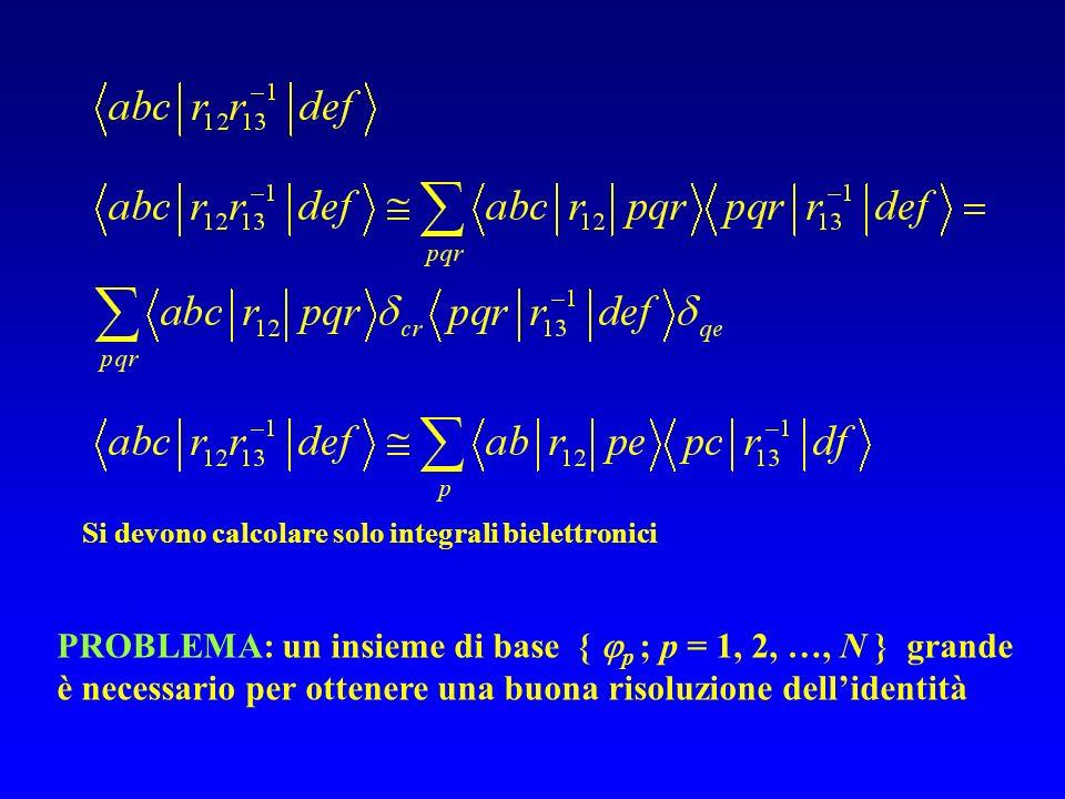Si devono calcolare solo integrali bielettronici
