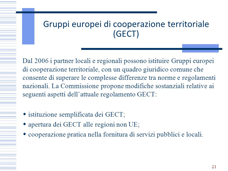 Gruppi europei di cooperazione territoriale (GECT)