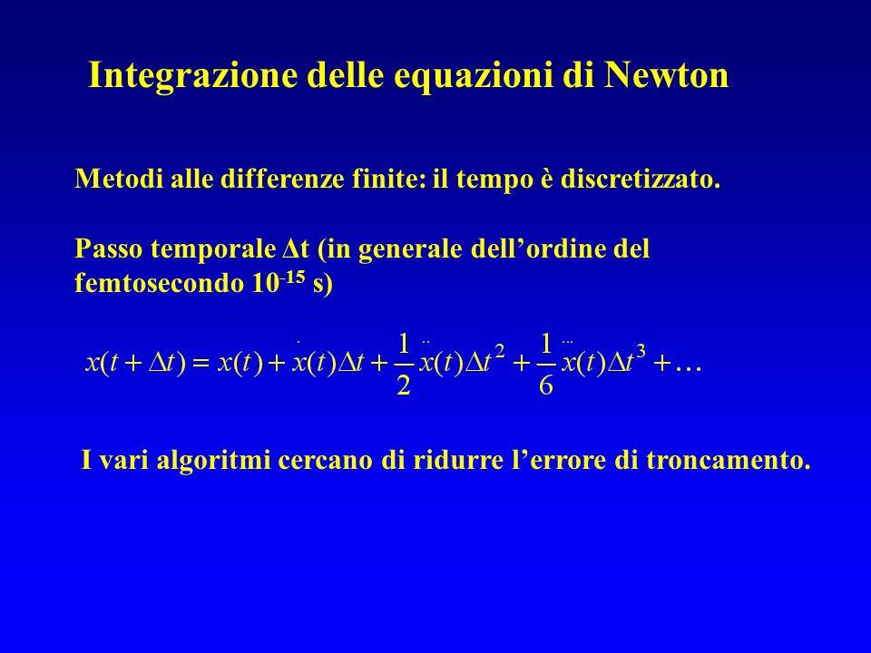 Integrazione delle equazioni di Newton