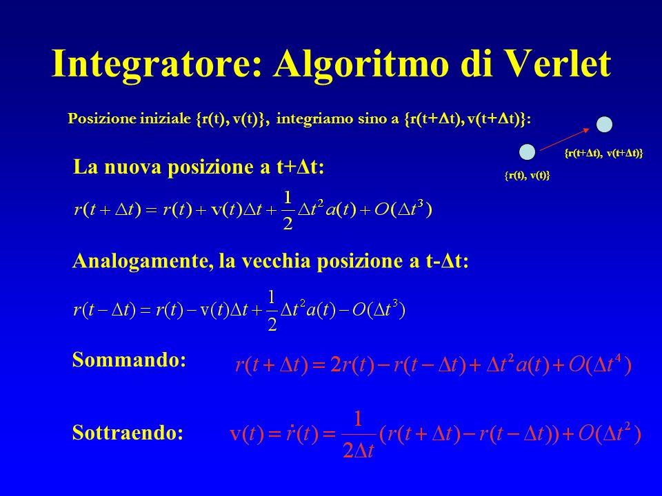 Integratore: Algoritmo di Verlet