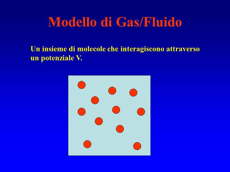 Modello di Gas/Fluido Un insieme di molecole che interagiscono attraverso un potenziale V.