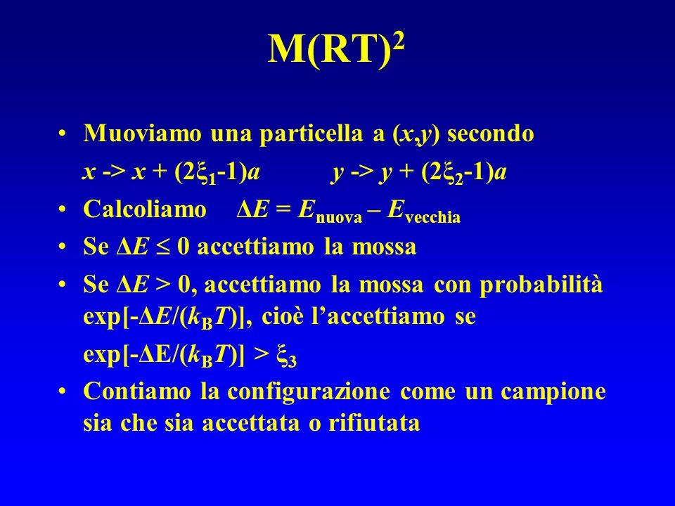 M(RT)2 Muoviamo una particella a (x,y) secondo