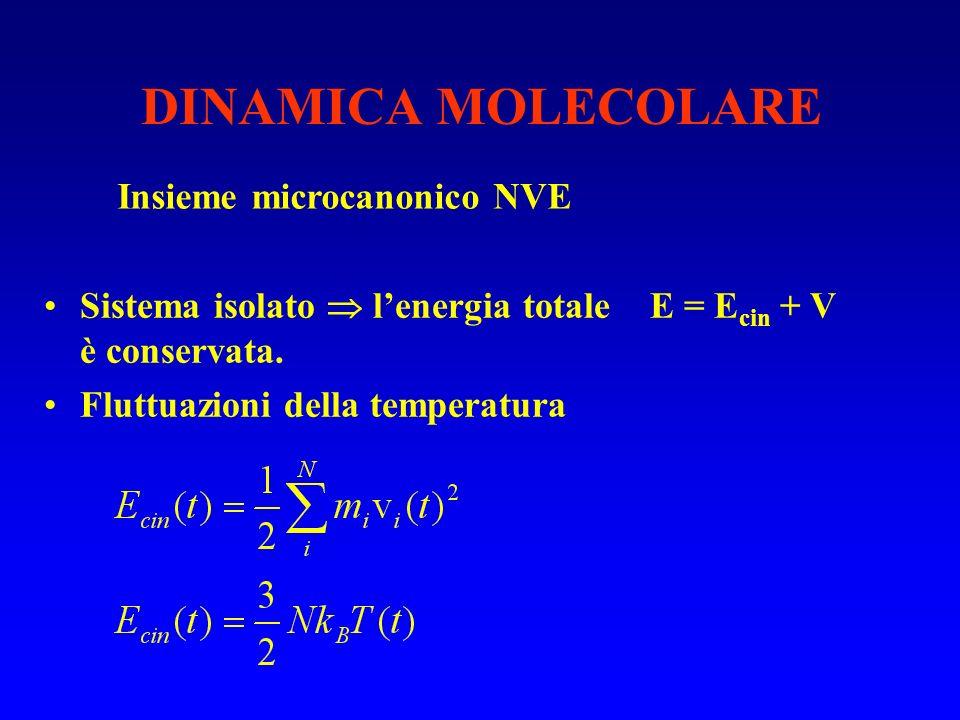 DINAMICA MOLECOLARE Insieme microcanonico NVE