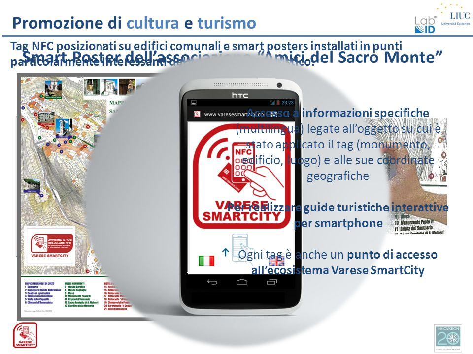 Smart Poster dell'associazione Amici del Sacro Monte