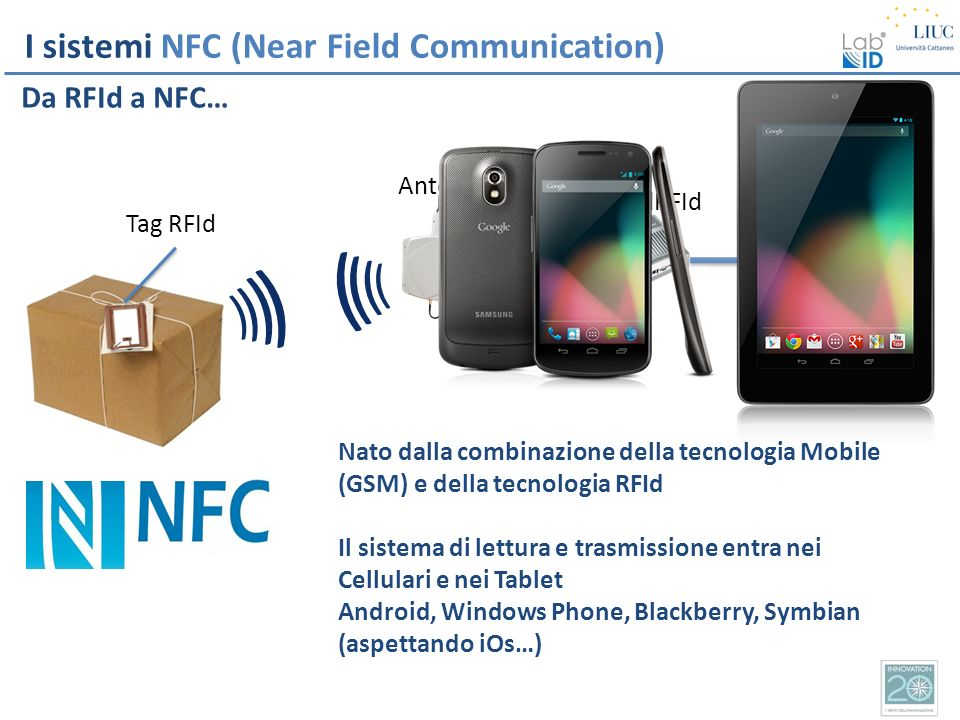 ) ) I sistemi NFC (Near Field Communication) Da RFId a NFC…