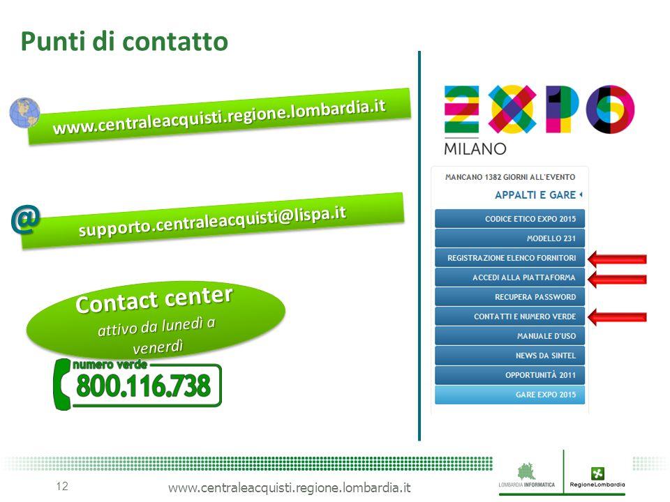 Contact center attivo da lunedì a venerdì