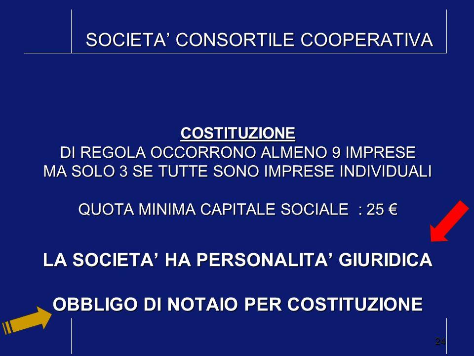 SOCIETA' CONSORTILE COOPERATIVA