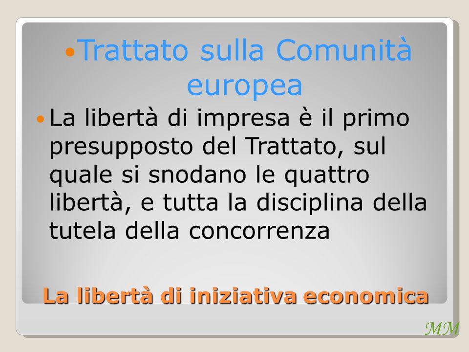 La libertà di iniziativa economica