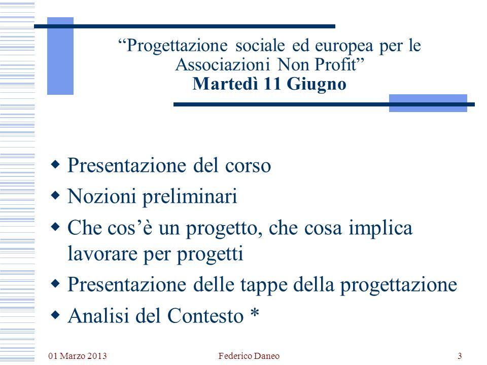 Presentazione del corso Nozioni preliminari