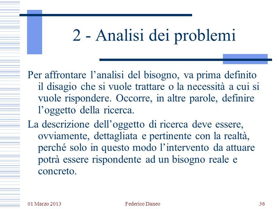 2 - Analisi dei problemi