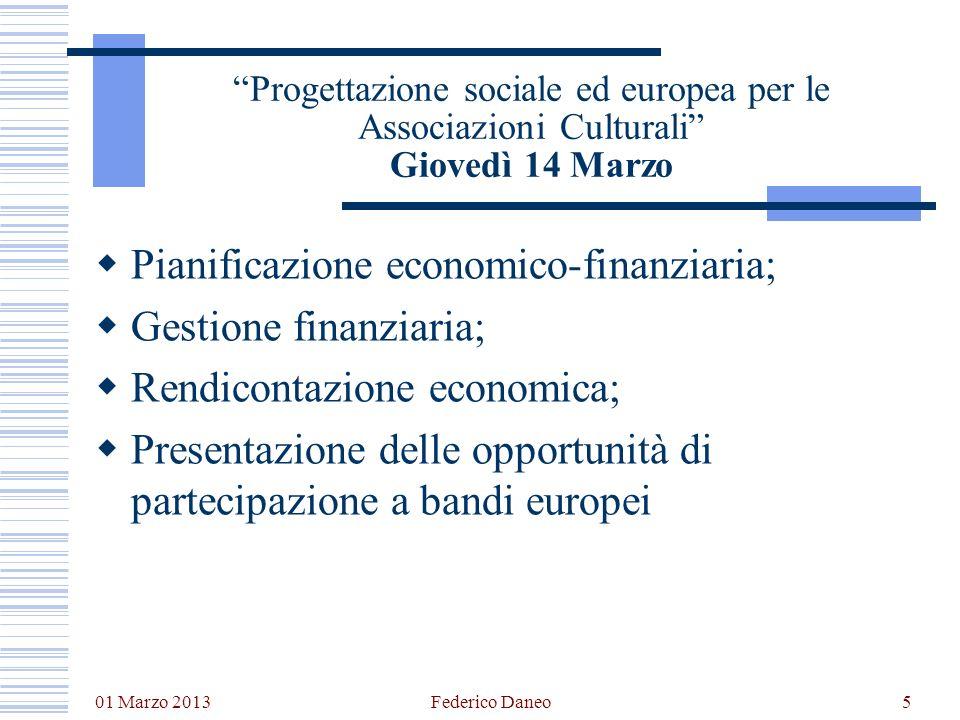 Pianificazione economico-finanziaria; Gestione finanziaria;
