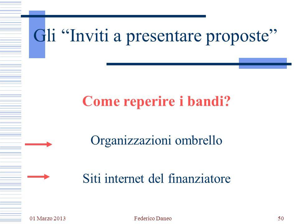Gli Inviti a presentare proposte